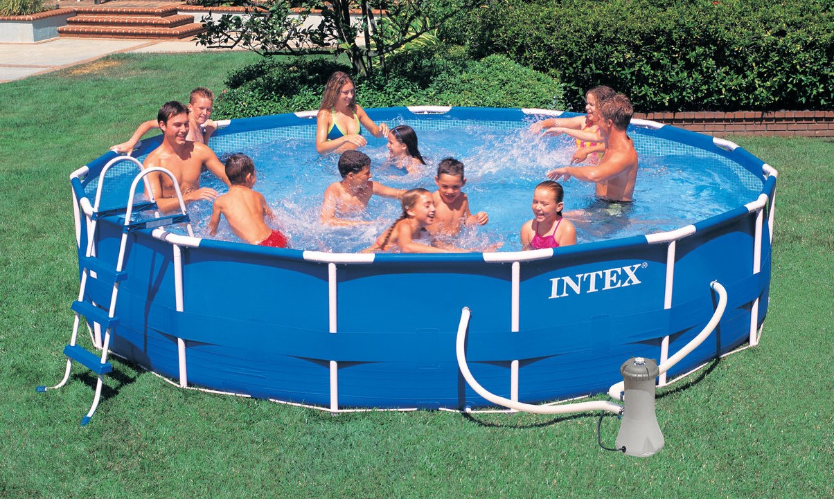Above ground swimming pools intex for your recreational - Intex above ground swimming pools ...