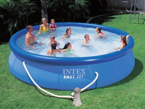 Easy set pools intex for your recreational times for Swimming pool set angebot
